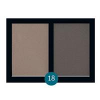 """Бархатные двухцветные тени для бровей Eva cosmetics """"Satin Touch"""" №18"""