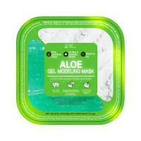 Питательная альгинатная маска для лица с алоэ Lindsay 2 Step Gel Based Modeling Mask Aloe 50г / 5г (8809568930505)