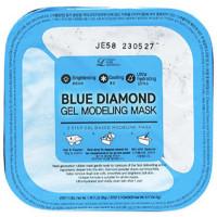 Увлажняющая альгинатная маска для лица с алмазами Lindsay 2 Step Gel Based Modeling Mask Blue Diamond 55 г