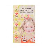 Набор 3 в 1 от черных точек на носу The Saem Secret Pure Nose Clear Kit 1.2.3 8 г (8806164112366)