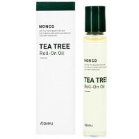 Успокаивающая сыворотка-ролик с маслом чайного дерева для проблемной кожи A'pieu Nonco Tea Tree Roll-On Oil 8 (8809581470637)