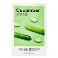 Увлажняющая маска для лица с экстрактом огурца Missha Airy Fit Sheet Mask Cucumber 19 г (8809581454712)