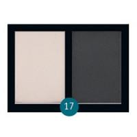 """Бархатные двухцветные тени для бровей Eva cosmetics """"Satin Touch"""" №17"""