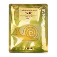 Тканевая маска для лица с фильтратом улиточной слизи The Saem Pure Natural Mask Sheet Snail 20 мл (8806164116272)