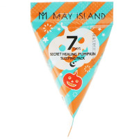 Ночная маска для лица с тыквой MAY ISLAND 7 Days Secret Healing Pumpkin Sleeping Pack 1 шт (8809515401256)