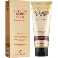 Золотая маска-плёнка для лица 3W Clinic Collagen & Luxury Gold Peel Off Pack 100 мл (8809563060221)
