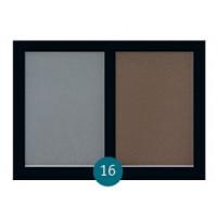 """Бархатные двухцветные тени для бровей Eva cosmetics """"Satin Touch"""" №16"""