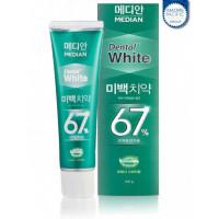 Отбеливающая зубная паста с мятным вкусом Amore Pacific Median Dental White 67% Spear 100 г (8809559336880)