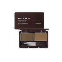Набор теней для бровей The Saem Eco Soul Eyebrow Kit 01 Natural Brown 2x2.5 г (8806164117484)