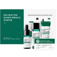 Набор мини-средств для проблемной кожи с кислотами Some By Mi AHA-BHA-PHA 30 Days Miracle Starter Mini Kit (8809647390008)