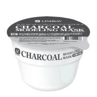 Моделирующая альгинатная маска для лица с древесным углём LINDSAY Modeling Mask Cup Pack Charcoal (8809371142539)