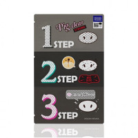 Набор патчей для очистки пор с древесным углем Holika Holika Pig Clear Blackhead 3-Step Kit Strong 1 шт (8806334372132)