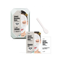 Моделирующая маска для лица с алмазной пудрой Konad Iloje Jewel Modeling Mask Pack Glam Dia Blanc 50г+5г (8809433726042)