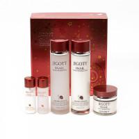 Антивозрастной набор для лица с муцином улитки Jigott Snail Moisture Skin Care 3 set (8809541281259)