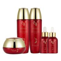 Набор из 5 средств по уходу за лицом с красным женьшенем Eunyul Red Ginseng Special 5 Set (8809435400353)