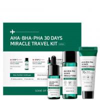 Набор средств от прыщей с кислотами Some By Mi AHA BHA PHA 30 Days Miracle Travel Kit 3 предмета (8809647390138)