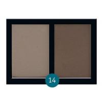 """Бархатные двухцветные тени для бровей Eva cosmetics """"Satin Touch"""" №14"""