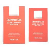 Точечные патчи от прыщей Farmstay Derma Cube Acne Calming Spot Patch 1п*12шт