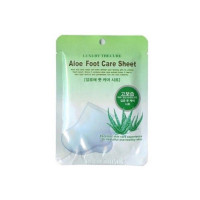Маска для ног с экстрактом алоэ Co-Arang Luxury The Qure Aloe Foot Care Sheet 16 г (8809295014967)
