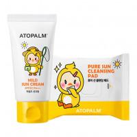 Набор солнцезащитных средств для детей Atopalm Mild Sun Cream SPF32 PA+++ Special Set 65 мл+30 шт.