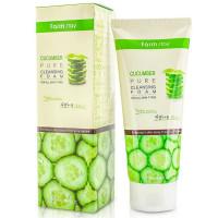 Пенка для умывания лица с экстрактом огурца Farmstay Cucumber Pure Cleansing Foam 180 мл (8809480771163)