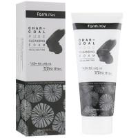Пенка для умывания лица с древесным углём Farmstay Charcoal Pure Cleansing Foam 180 мл (8809469773690)