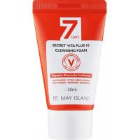 Мини-версия витаминной пенки для умывания May Island 7 Days Secret Vita Plus-10 Cleansing Foam 30 мл (8809515401140)