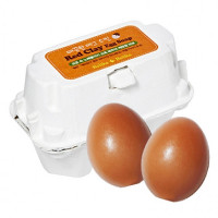 Мыло для умывания лица с красной глиной Holika Holika Red Clay Egg Soap 50 г + 50 г (8806334338121)