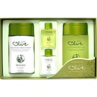 "Набор для ухода за мужской кожей ""Олива"" 3w Clinic Olive For Man Fresh 2 Items Set 360 мл (8809083285760)"