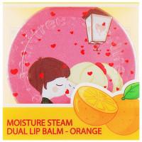 Увлажняющий бальзам-тинт для губ с ароматом апельсина SeaNtree Art Moisture Steam Dual Lip Balm Orange 14 г (8809476692052)