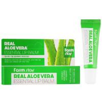 Увлажняющий бальзам для губ с соком алоэ FarmStay Real Aloe Vera Essential Lip Balm 10 мл (8809632883218)