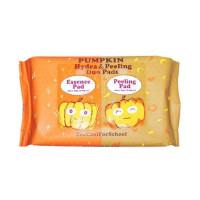 Набор салфеток для пилинга и увлажнения кожи лица Too Cool For School Pumpkin Hydra &Peeling Duo Pads 100 шт (8809532444328)