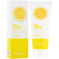Очищающий пилинг-гель для лица с экстрактом лимона  Farmstay Real Lemon Deep Clear Peeling Gel 100 мл (8809426959358)