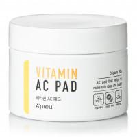 Пилинг-диски для очищения кожи лица с AHA и BHA кислотами и 6 витаминами A'pieu Vitamin AC Pad 80 г 35 шт (8809530049747)