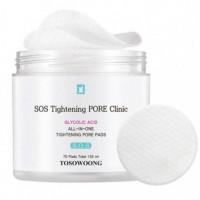 Очищающие пилинг-диски для лица Tosowoong Pore Clinic Pore Pads 70 шт (8809179103794)