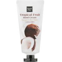 Крем для рук и ногтей с маслом ши и экстрактом кокоса Farmstay Tropical Fruit Hand Cream Coconut 50 мл (8809638300405)