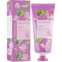 Крем для рук с экстрактом лотоса Farmstay Pink Flower Blooming Hand Cream Pink Lotus 100 мл (8809636280617)