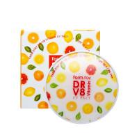Компактная пудра для лица с витаминами со сменным блоком  Farmstay Dr.V8 Vitamin Uv Pact Оттенок 21, 12 г+12 г (8809527481093)