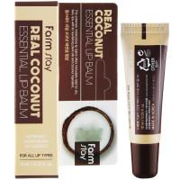 Увлажняющий бальзам для губ с экстрактом кокоса Farmstay Real Coconut Essential Lip Balm 10 мл (8809632883201)