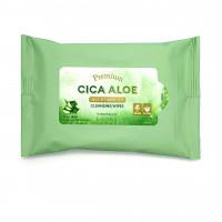 Очищающие салфетки для снятия макияжа Missha Premium Cica Aloe Cleansing Wipes 15 шт