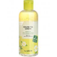 Очищающая вода с экстрактом зеленого чая The Saem Healing Tea Garden Green Tea Oil in Cleansing Water 300 мл (8806164155714)