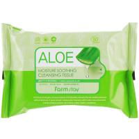 Влажные салфетки для очищения кожи с экстрактом алоэ Farmstay Aloe Moisture Soothing Cleansing Tissue 30 шт (8809519371586)