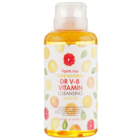 Мицеллярная очищающая вода с витаминами Farmstay Pure Natural DR V-8 Vitamin Cleansing Water 500 мл (8809514481594)