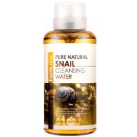 Мицеллярная очищающая вода с муцином улитки Farmstay Pure Natural Snail Cleansing Water 500 мл (8809426958474)