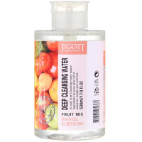 Жидкость для снятия макияжа фруктовый микс Jigott Fruit Mix Deep Cleansing Water 530 мл