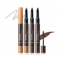 Тушь и карандаш для бровей The Saem Eco Soul Brow Pencil & Mascara 03 Dark Brown 0,2 г 2,5 мл (8806164157152)
