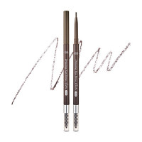 Автоматический тонкий карандаш для бровей Etude House Drawing Slim Eyebrow #4 Gray Brown (8806199476839)