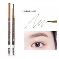 Автоматический тонкий карандаш для бровей Etude House Drawing Slim Eyebrow #2 Natural Brown (8806199476822)