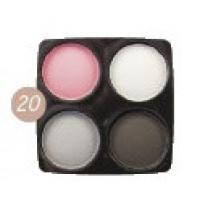 """Бархатные тени для век Eva cosmetics """"Soft & Matte"""" Палитра 20 (7015202011)"""