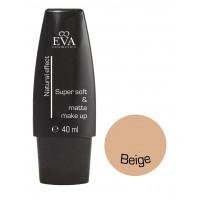 """Легкий тональный крем на минеральной основе Eva cosmetics """"Super soft&matte"""" Beige 40 мл"""